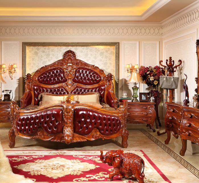 實木歐式床