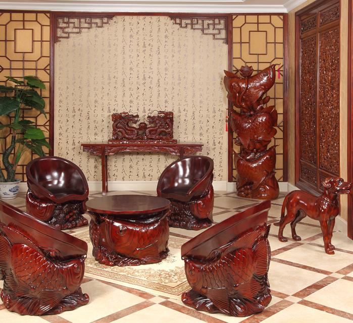雅雕堂精品雕刻桌椅