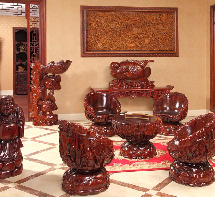 雅雕堂羅漢雕刻家具