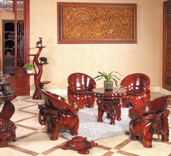 精品雕刻桌椅