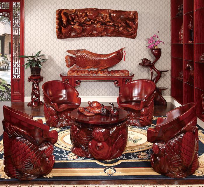 羅漢魚座椅組合