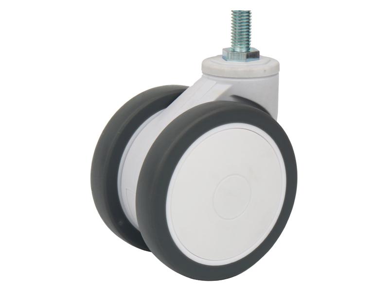 3/4英寸絲桿萬向雙輪無剎車醫療設備腳輪超靜音醫療輪