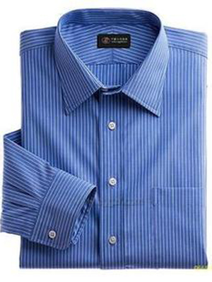 高档全棉条纹男式长袖衬衣