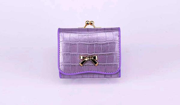 紫色牛皮包