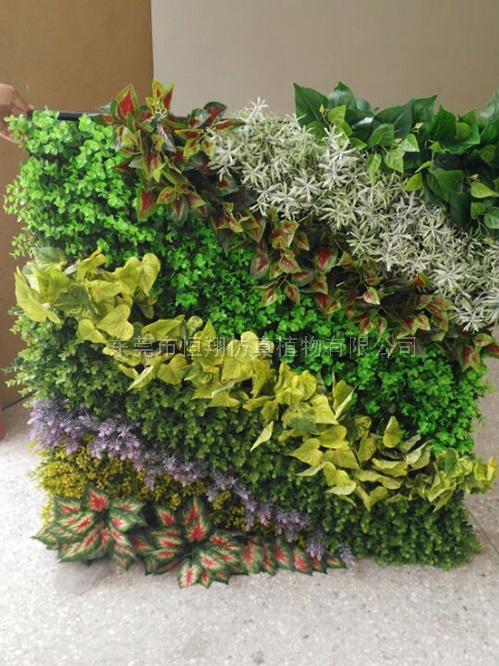 小型简装仿真植物墙