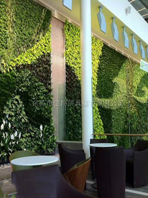 东莞小型LOGO仿真植物墙设计