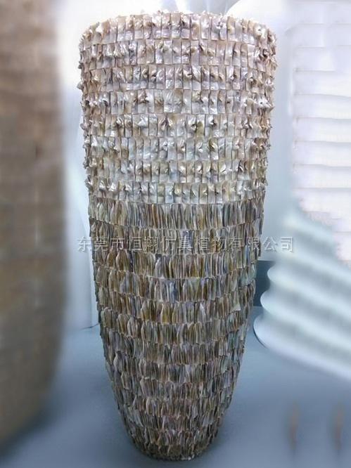马赛克纹理高花瓶