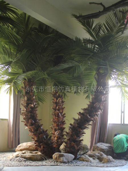 HX8034弯杆仿真棕榈树