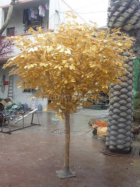 HX8046-3米高金边仿真榕树