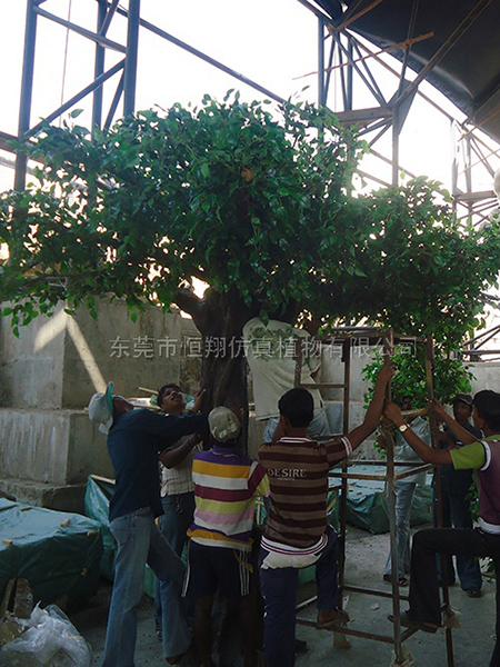 HX8043 印度水上乐园仿真榕树