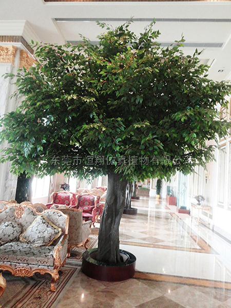 HX8041-4米高玻璃鋼桿仿真榕樹