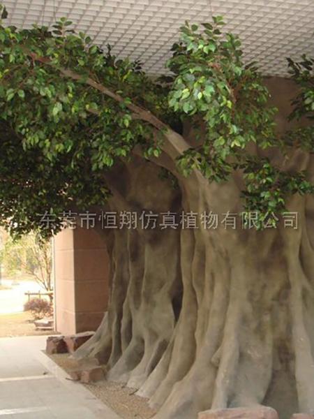 HX80410-大型包柱仿真榕树