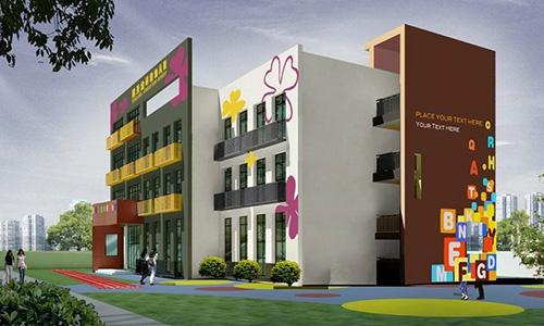 幼儿园楼梯设计,幼儿园美术室设计,幼儿园图书室设计,幼儿园外观设计