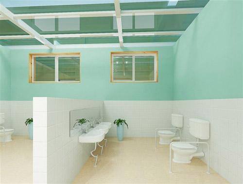 卫生间是幼儿生活用房中使用频繁的房间,由盥洗、厕所两部分组成。为减少幼儿交叉感染,卫生间宜各班独立设置,且厕所与盥洗之间宜隔开设置,避免混设。 (1)卫生间设计要求  位置:幼儿卫生间,特别是盥洗室使用频繁,要求紧靠活动室和卧室且与班活动场地毗连。  幼儿园每班卫生间最小使用面积不得小于15,设备的尺寸应符合幼儿的尺度。 (2)卫生设备的内容及数量  幼儿卫生间内应设置的主要卫生设备有:大便器、小便器、盥洗台、污水池、毛巾架等,根据需要还应设置淋浴器或浴盆、清洁柜等。  每班卫生间内应设置的最少设