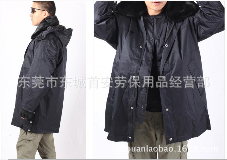 保安服冬装棉大衣男安保物业保安冬装制服 高级羊绒防寒冬服