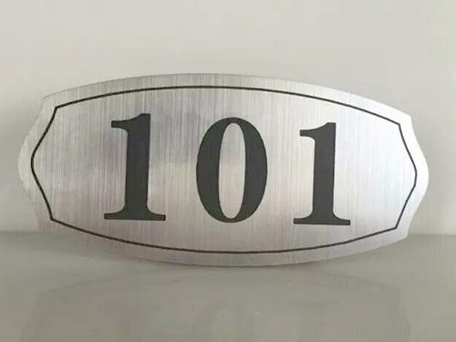 101不锈钢蚀刻门牌