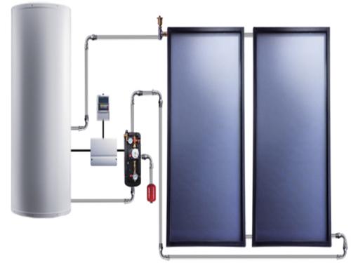 平板太阳能 分体机热水器
