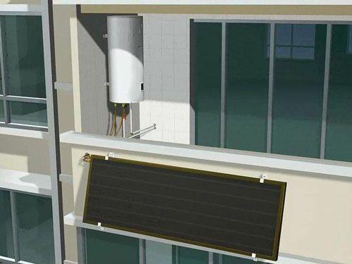 100L阳台壁挂集热器