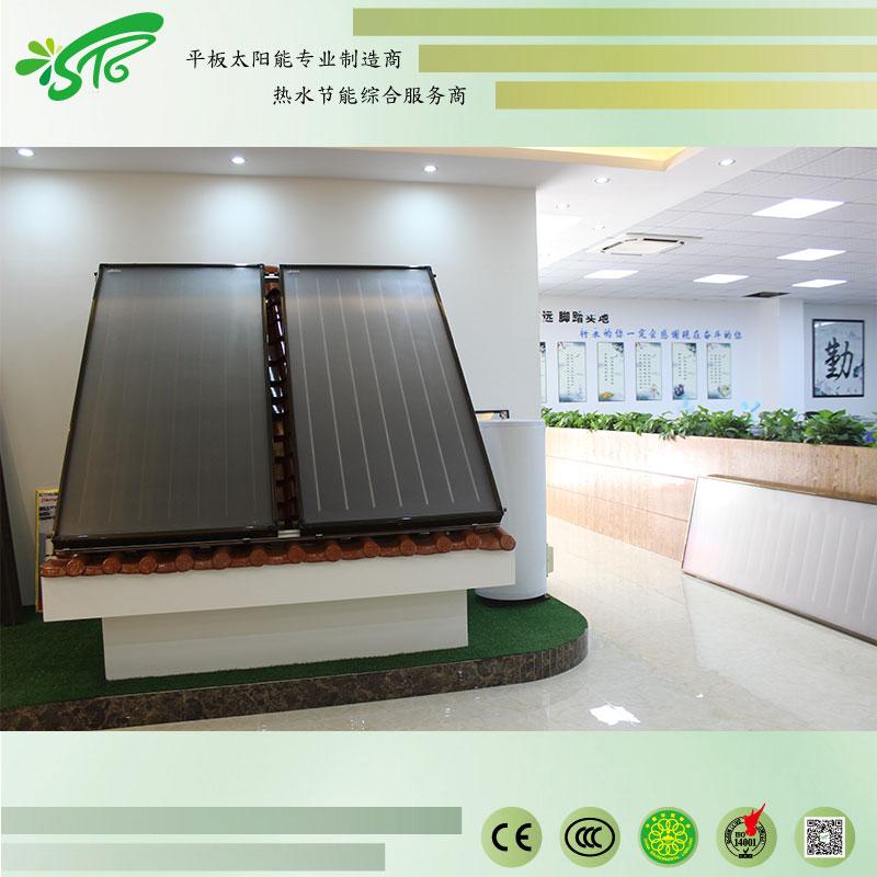 分体式太阳能 别墅太阳能热水系统 平板太阳能热水