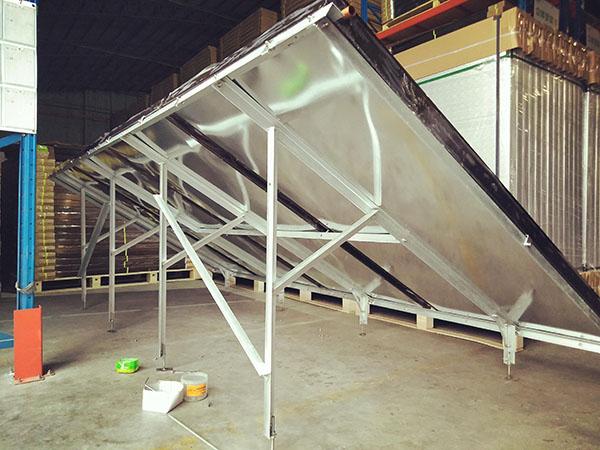 平板太阳能防台风支架 太阳能热水工程支架
