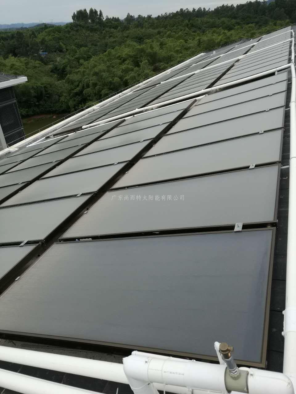 斜屋面平板太阳能热水系统