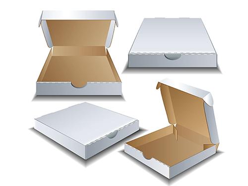 白色瓦楞飞机盒