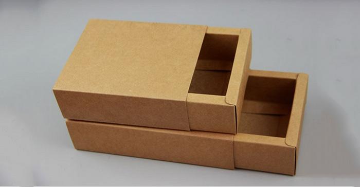 美国牛皮纸抽屉盒包装盒印刷|东莞市恒知包装制品