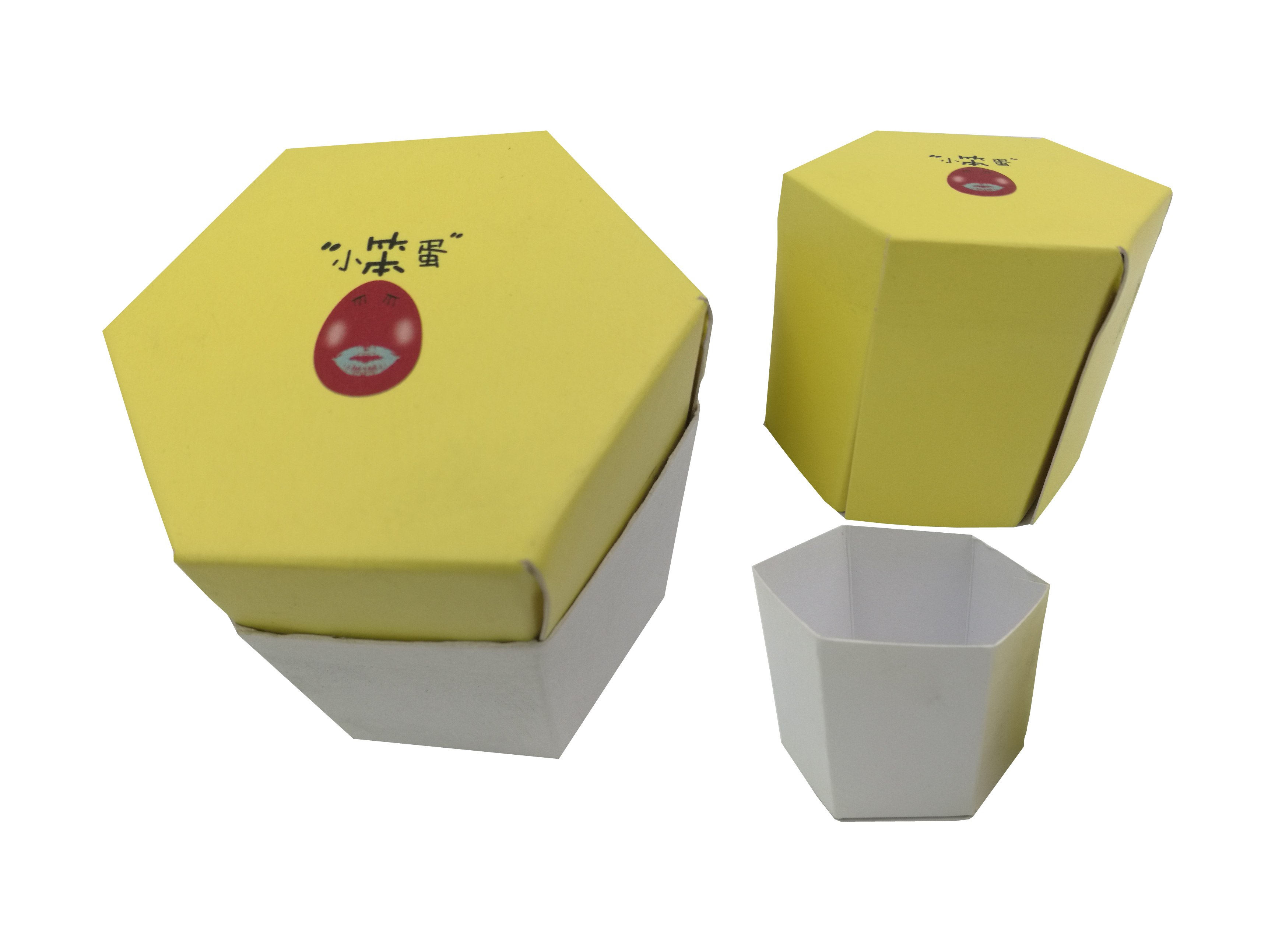纸盒包装制作 创意鸡蛋包装盒六角形
