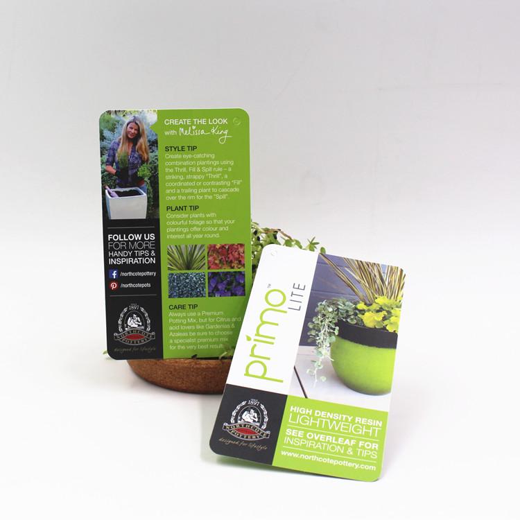 盆栽植物PP吊牌印刷
