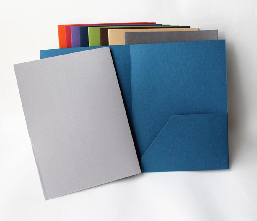 环保再生纸文件封套 宝蓝色