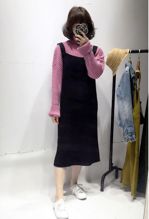 新款毛衣多少錢一件_井水服飾_潮流_新款_秋冬_長款_針織_粉色