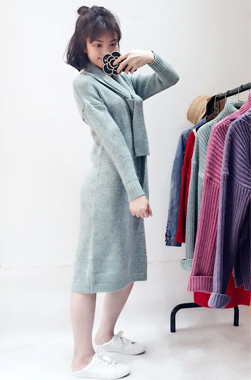 女款毛衣一般多少錢_井水服飾_灰色_針織_男士_紫色_圓領_高領