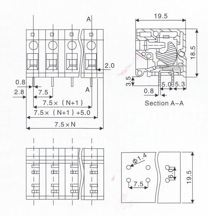 产品描述:东莞市从盛电子科技有限公司专业生产螺钉式PCB接线端子CS105R-5.0/7.5,提供螺钉式PCB接线端子CS105R-5.0/7.5图片了解,找螺钉式PCB接线端子CS105R-5.0/7.5就找东莞市从盛电子科技有限公司