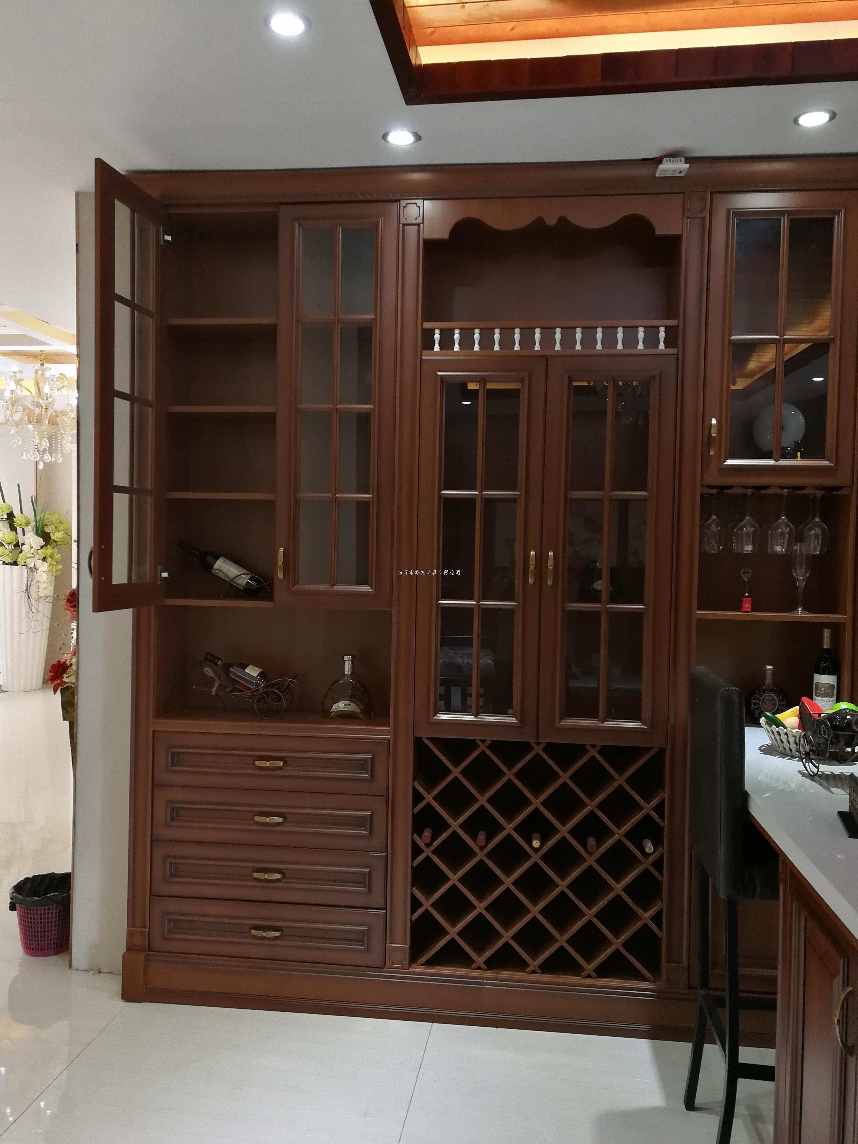 酒柜 产品描述:华友家具,酒柜定制,东莞酒柜定制,中式酒柜,欧式酒柜