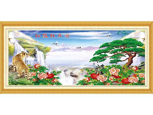松鶴牡丹圖