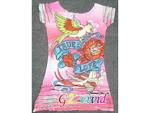 印花女孩T恤
