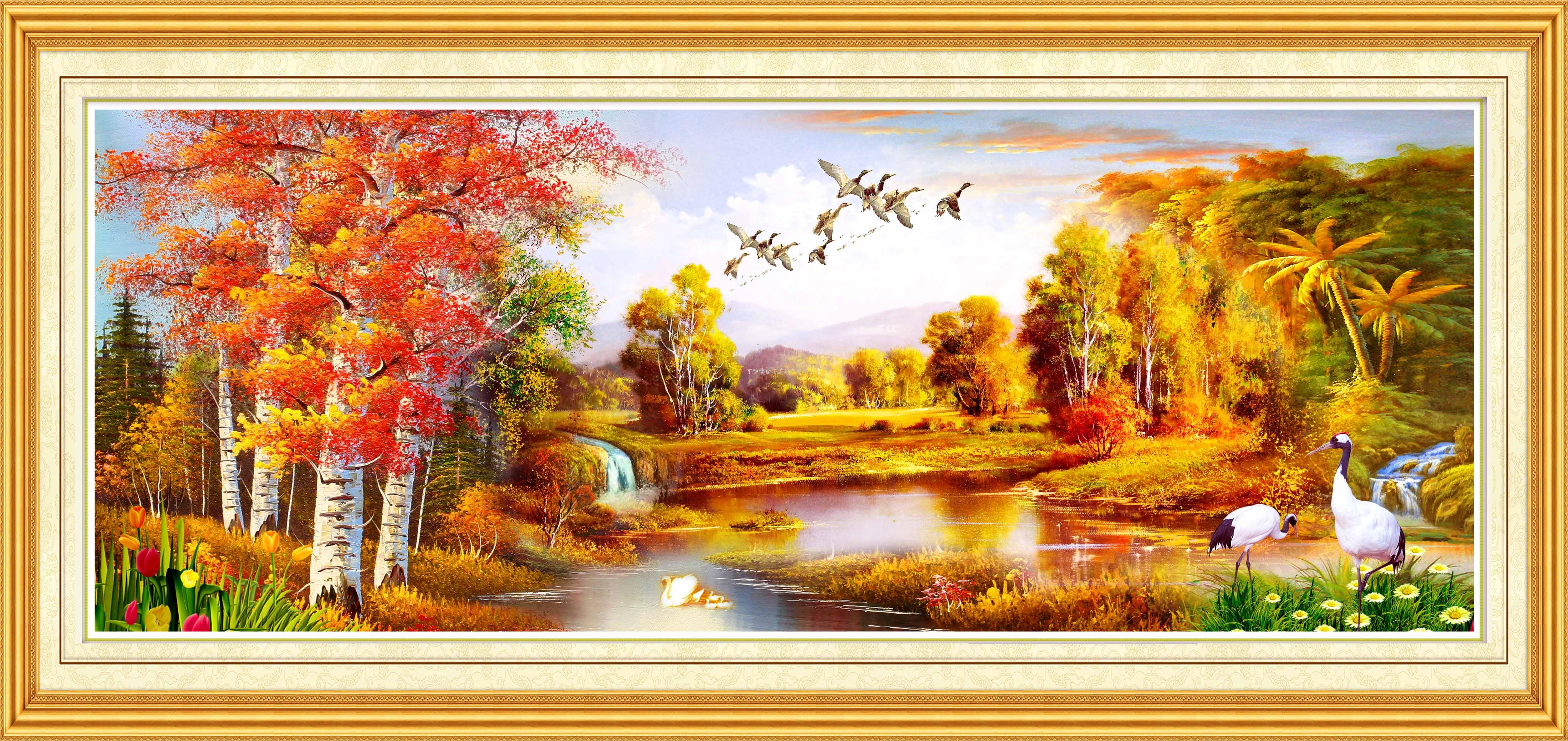 因为瀑布寓意财源滚滚,源远流长,左右飞瀑或叠泉则寓意左右逢源.
