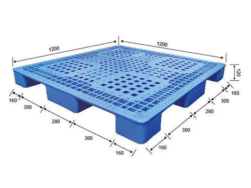 鎮江可再生塑膠卡板是怎么來的 偉創 九腳型 加厚 包裝 循環利用