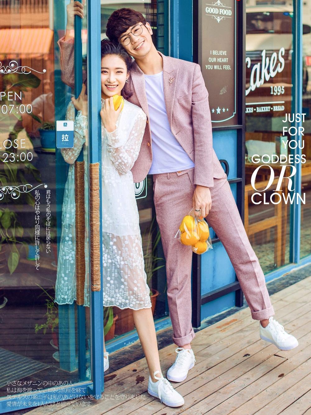 东莞时尚街拍情侣照