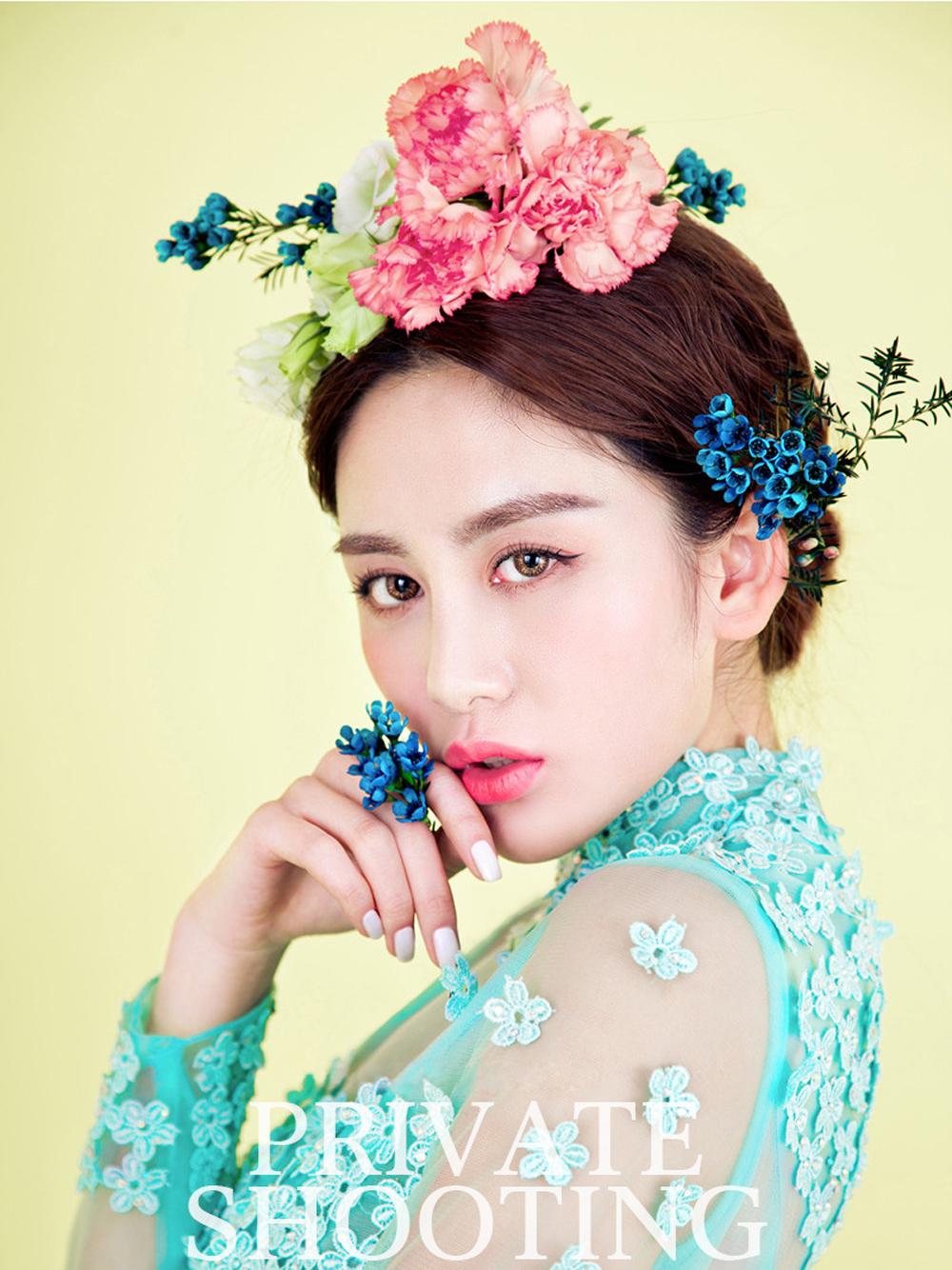 东莞艺术照,鲜花造型