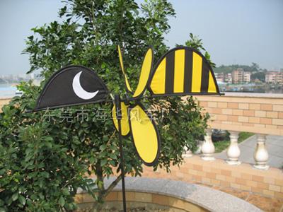 小黃蜂造型布風車  067