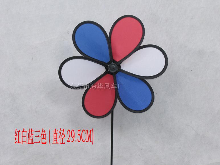 紅、藍、白三色搭配中六葉風車07