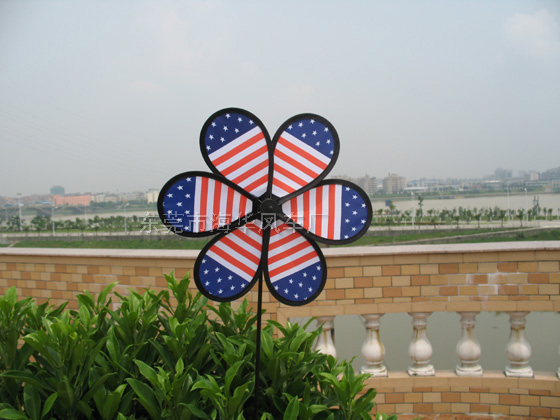 美國旗風車075