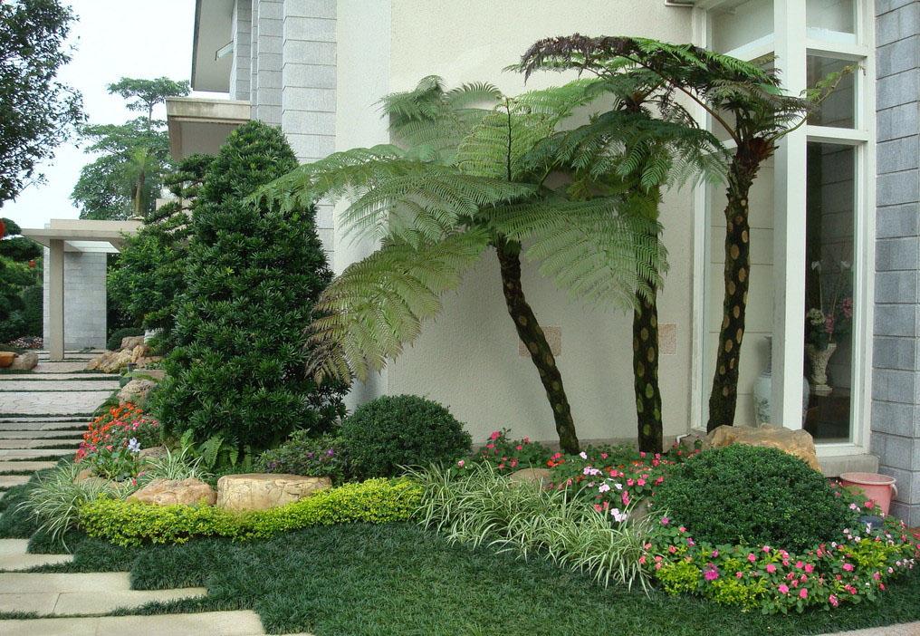 别墅转角植物设计