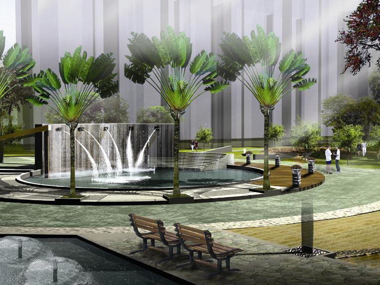 园林工程-水景墙