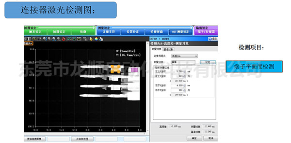 連接器激光檢測圖