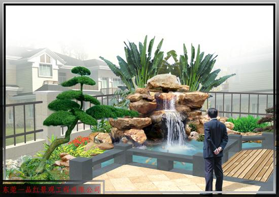 私家花园-假山鱼池