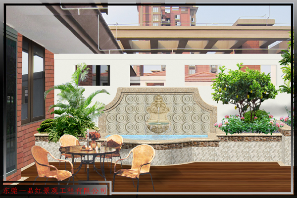 别墅-欧式阳台花园