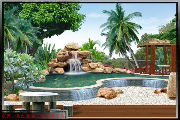 别墅-花园假山水景