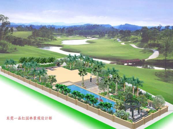 别墅绿化-泳池喷泉